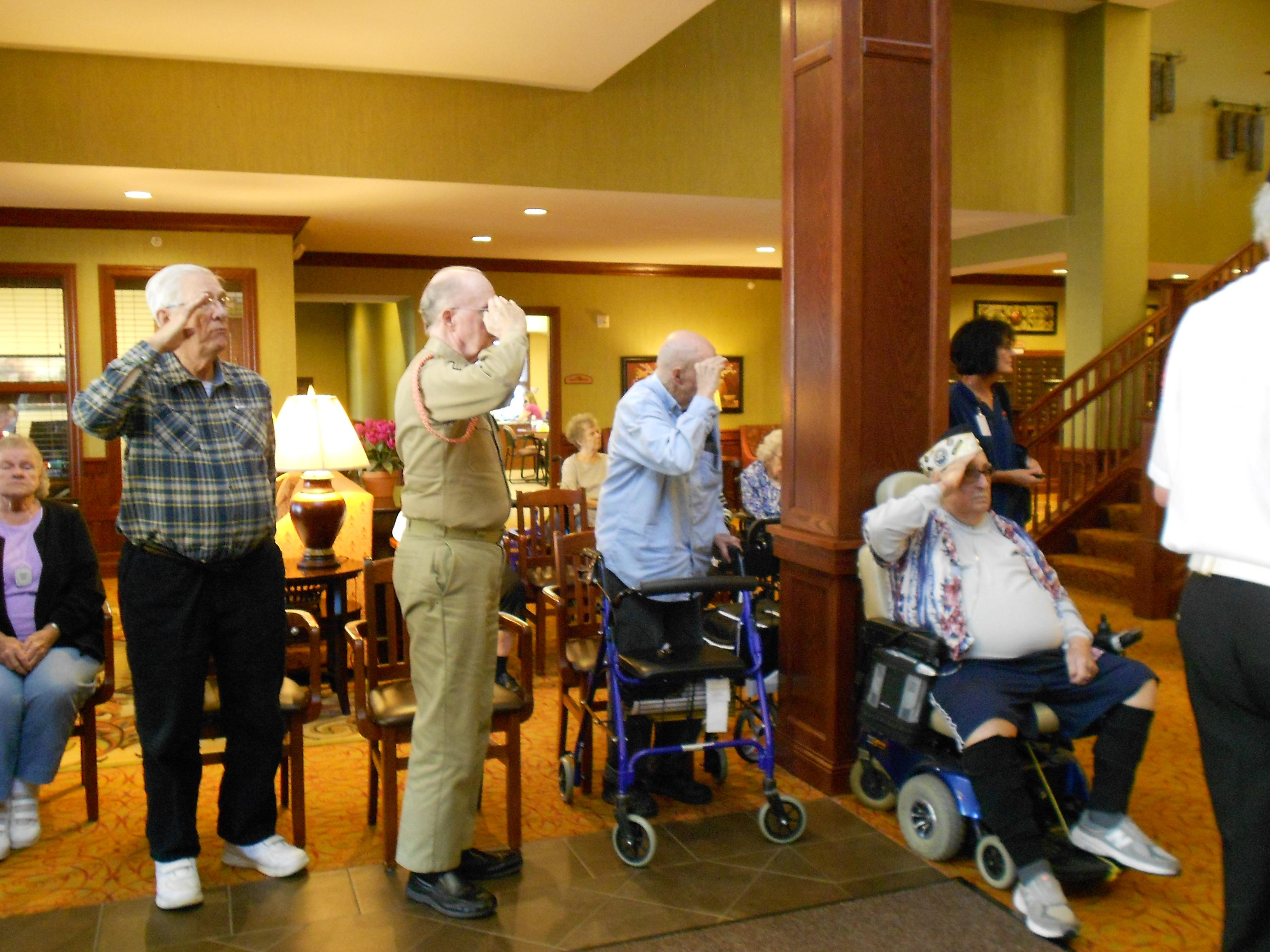 honoring our veterans at arbor lakes senior living