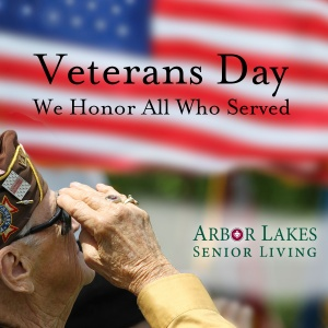 veterans day 2016, arbor lakes senior living, maple grove senior living arrangements, mn