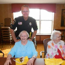 National Night Out-Arbor Lakes Senior Living-enjoying ice cream