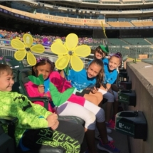 2017 Walk to End Alzheimer's-Southview Senior Communities-Kids smiling with flowers