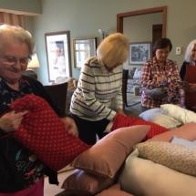 Dialysis Arm Pillows-Arbor Lakes Senior Living-picking out their pillows