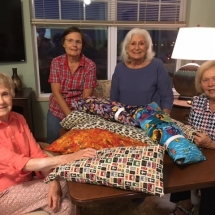 Dialysis Arm Pillows-Arbor Lakes Senior Living-ladies posing with their pillows