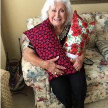 Dialysis Arm Pillows-Arbor Lakes Senior Living-getting cozy with the arm pillows