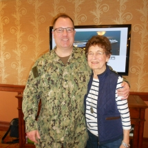 Pride of America and Pride of a Mother-Arbor Lakes Senior Living-Navy Captain Greg Gomer with mother