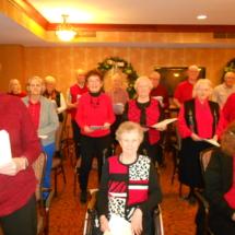 Holiday party at Arbor Lakes Senior Living