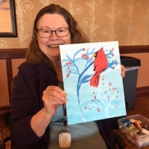 Art Class at Arbor Lakes Senior Living
