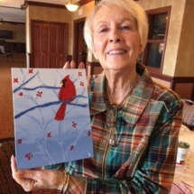 Art Class at Arbor Lakes Senior Living